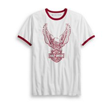 Retro Eagle Logo Slim Fit Tee