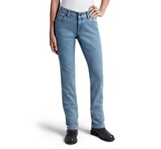 Straight Leg Mid-Rise Jeans