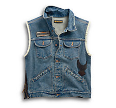 Blowout Slim Fit Denim Vest