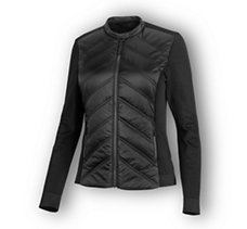 Quilted Stretch Nylon Jacket
