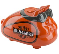 Orange Hog Bank with Goggles