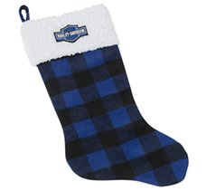 Holiday Stocking - Blue Plaid