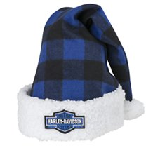 Santa Hat - Blue Plaid