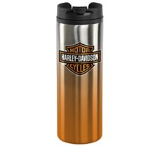 Bar & Shield Travel Mug Silver &