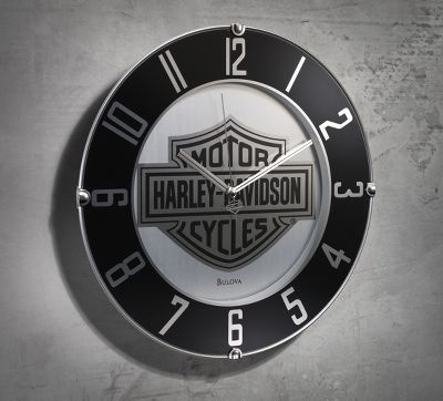 Mirrored Bar & Shield Wall Clock