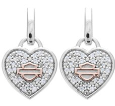 Bling Heart with Rose Gold Bar &