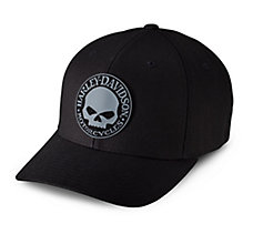 Rubber Skull Patch Stretch Cap