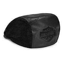 Logo Leather Ivy Cap