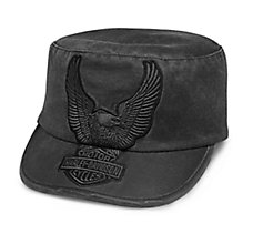 Eagle Appliqué Flat Top Cap