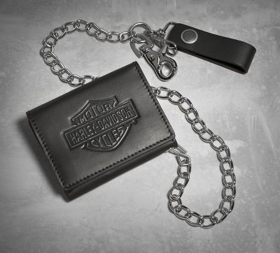 Bar & Shield Tri-Fold Biker Wallet