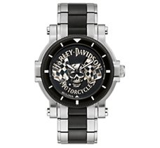 Flag Skull Medallion Watch