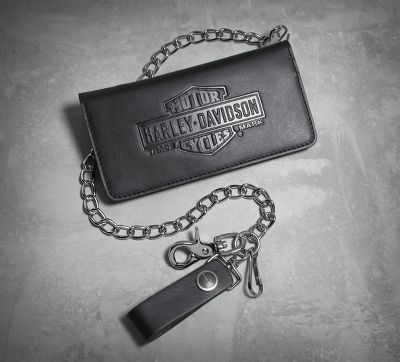 Vintage Bar & Shield Biker Wallet