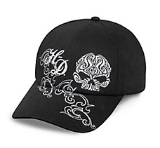Scroll Skull Embellished Cap