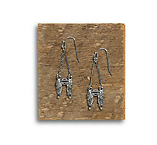 Downswept Wing Drop Earrings