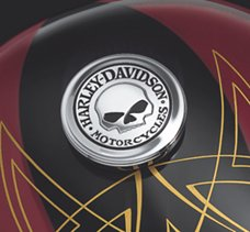 Skull Fuel Cap Medallion