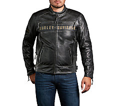 Mens leather motorcycle jackets harley davidson usa passing link triple vent jacket thecheapjerseys Images