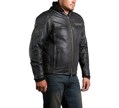 harley-davidson mens auroral 3-in-1 leather riding jacket